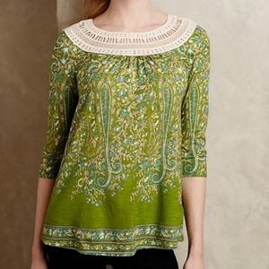Anthropologie Meadow Rue Earthly Delites Blouse